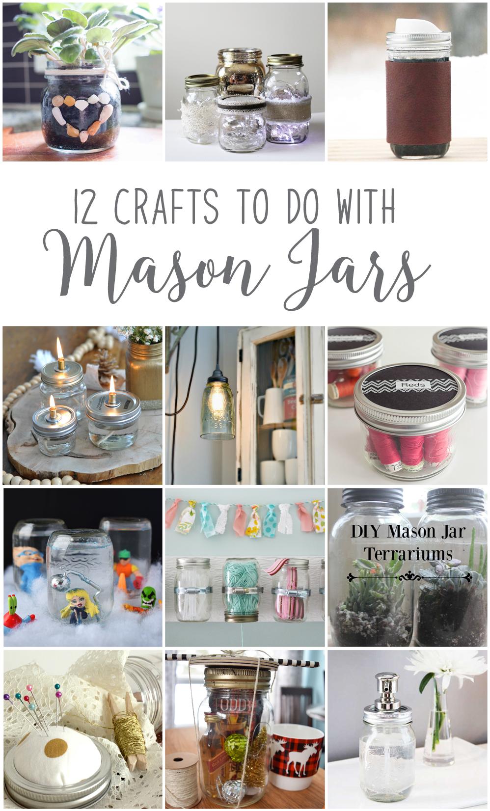 Make Hanging Mason Jar Craft Storage #12MonthsofDIY | The ...